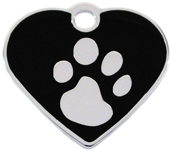 Hundemarke klein Herz 925 silber-plated